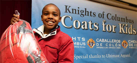 Knights of Columbus Coats for Kids